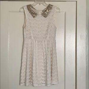 Kira Cream Lace Dress